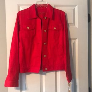 Lauren Jeans Co. Ralph Lauren Red Denim Jacket